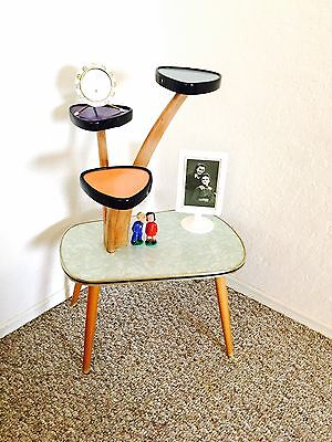 Atomic Display Table Plant Stand Mid Century Side Table End Table German Vintage