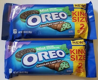 New Mint Oreo Chocolate Candy Bar King Size 4 Bars In Total Free World Shipping