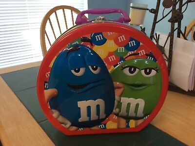 """m&m 4 character tin purse 11"""" wide 10"""" tall"""