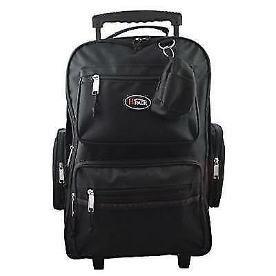 "HiPack 19"" Rolling Backpack Carry-on Luggage Wheeled Bag - Overnighter New"