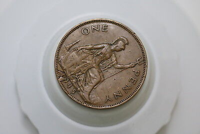 Uk Gb Penny 1945 Error Coin - Date A72 #5910