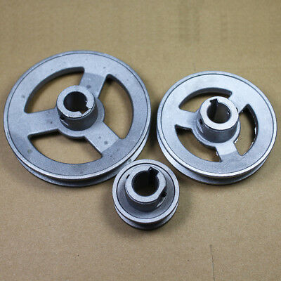 "OD 40 to 100mm DIY V-Groove Pulley for 3/8"" = 9.525mm Belt width - Select Size"