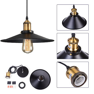 Industrial Vintage Metal Chandelier Hanging Lamp Antique Ceiling Pendant Light