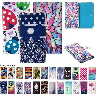 "For Blu Advance 5.0"" Wallet Bag Flip Case Cover Angry Happy Dream Rose Dot Card"