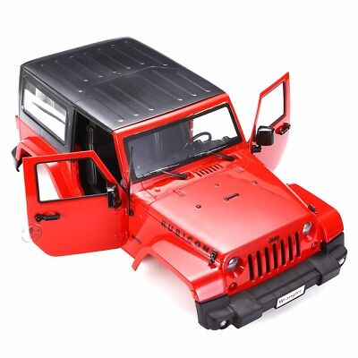 1:10 Red Hard Plastic Body Shell For RC Climbing Car Land Rover Jeep Wrangler