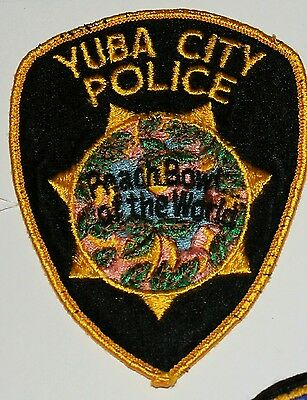 Old YUBA CITY POLICE Sutter County Peach Bowl of the World California Used Worn