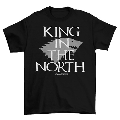Game Of Thrones KING IN THE NORTH  T-Shirt Adult Unisex Cotton Stark Direwolf