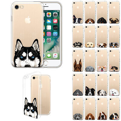 For Apple iPhone 8 / iPhone 7 4.7 inch Dog Design TPU Silicone Clear Case Cover