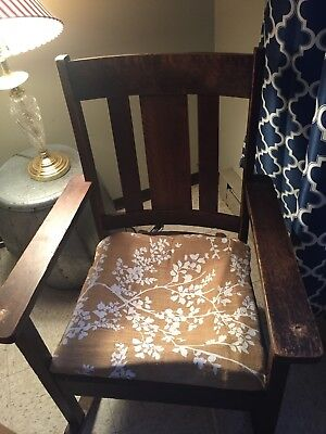 Mission Antique Oak Rocker Rocking Chair (possibly Stickley)