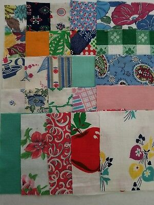 "(Lot#015) 1920's1930's vintage material/feed sack/quilting/5""x5"" charm squares"