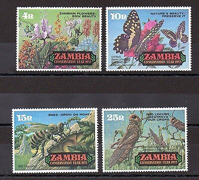 Zambia 1972 Conservation Year MNH set