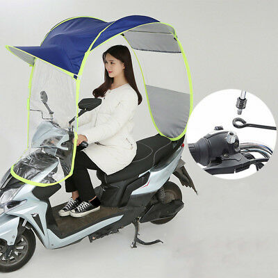 Universal Motor Scooter Canopy Umbrella Mobility Sun Shade & Rain Windshield