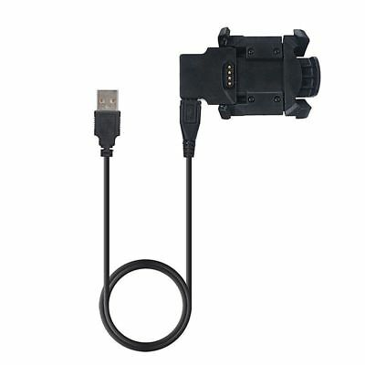 New USB Dock Charger Charging Data Sync Cable With Band For Garmin Fenix 3 Watch