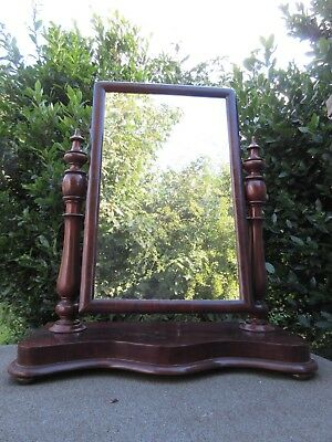 Mahogany Dressing Table Top Mirror Antique @ Derby