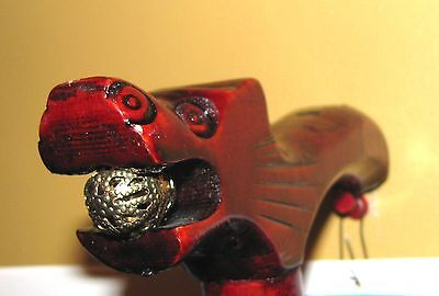 Vtg  Cane - Dragon Head - Handcrafted Cherry Wood Mens  Accessories