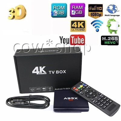 4K A95X R1 2GB+16GB Amlogic S905W Android 7.1 Smart TV Box Wifi HD 2.0 17.3