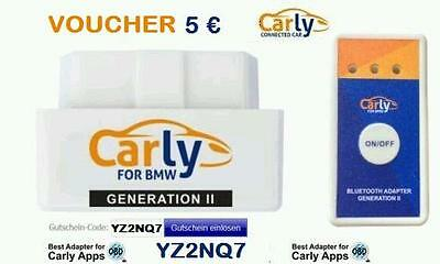 Carly BMW Mercedes VW OBD adapter + 5 € Voucher +