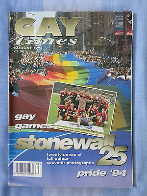 Gay Times magazine (191, August 1994) Gay Games, Pride '94