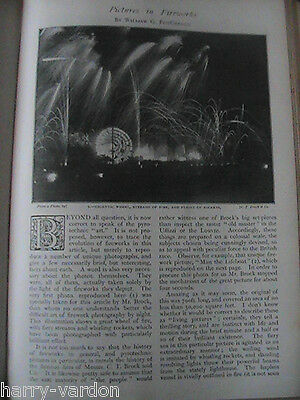 Fireworks Display Pyrotechnics C T Brock &Co Rare Antique Old Photo Article 1896