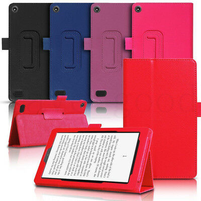 For Amazon Kindle Fire 7 HD 8 2017 Tablet Case Flip Thin Leather Stand Cover