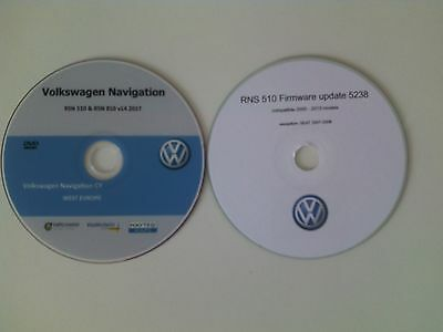 VW SKODA SEAT V14 RNS510 RNS810 2017 Navigation Map DVD West Europe +bonus