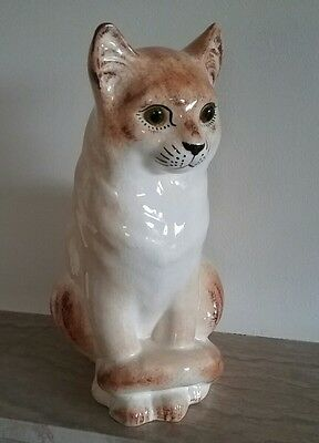 Large Welsh NP Pottery Made in Wales  Cat 1920s Plichta Wemyss Bristol interest