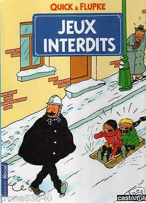 HERGE-QUICK & FLUPKE/..JEUX INTERDITS../Editions CASTERMAN 1985