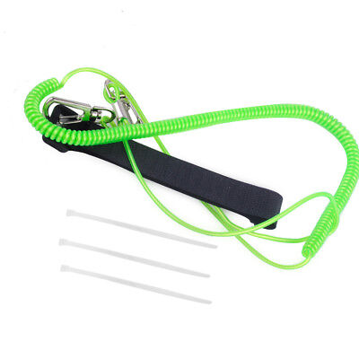 3M Paddle Fishing Rod Leash Safety Cord Tether Metal Hook For Kayak Canoe