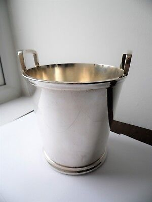 Vintage Sheffield Made Silver Plated Epns Ice Bucket By Larder & Burgess