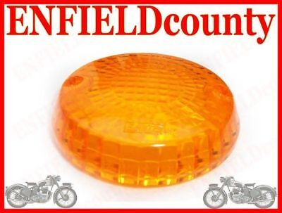 ROYAL ENFIELD ORANGE INDICATOR BLINKER COVER LENS 2Pc @AUD