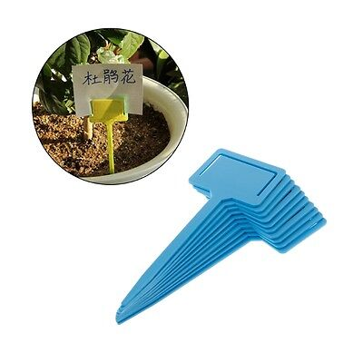 10Pcs Thick Plastic T-Type Plant Labels Tags Marker Seedlings Nursery Garden Tag