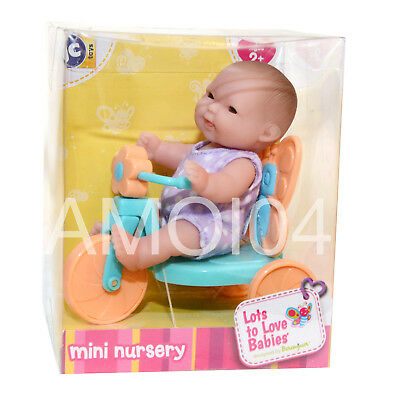 Berenguer Baby Doll Mini on Tricycle Lots to Love Babies For Ages 2+ Colorful