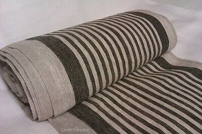 3 yards 100/% LINEN Decorator Fabric FLAX Upholstery Natural Color Heavy Weight