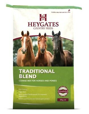 Heygates Horse Traditional Blend Course Mix Feed Non Heating 20Kg  *free P&p*