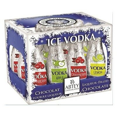 12 x Ice Vodka Liqueurs Filled Chocolates Christmas Stocking FIller Gift Boxed