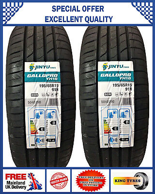 2x 195/65R15 91V RIKEN MICHELIN MADE NEW 2 QUALITY TYRES. 1956515 LOW PRICE BUGT