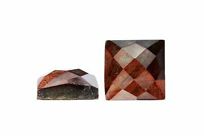 Natural Semiprecious Faceted Red Tiger Eye Square Cabochon Gemstone Wholesale