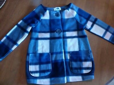 Old Navy girls 4T/4A plaid coat jacket sweater plaid long sleeve buttons pickets