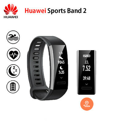New Huawei Sport Band 2 With Built In GPS Fitness Activity Swimming Smart Watch