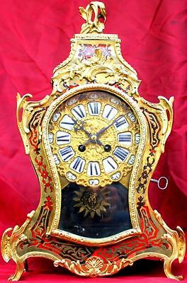 "SUPERB ANTIQUE FRENCH JAPY FRERES 8 DAY BOULLE BRACKET MANTLE CLOCK 18"" 46cm"