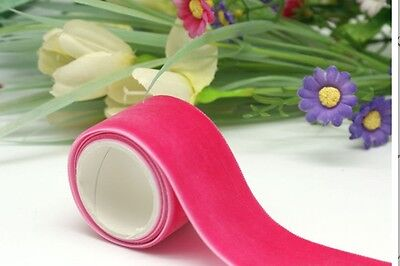 pink velvet ribbon 25mm wide