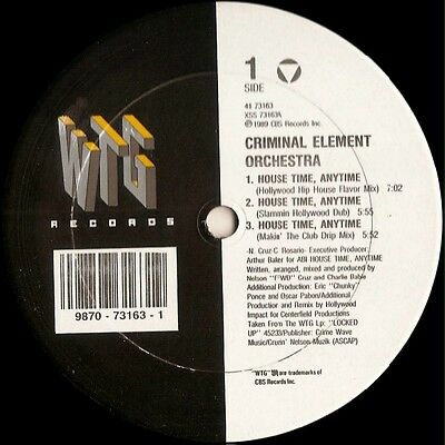 Criminal Element Orchestra   House Time Anytime