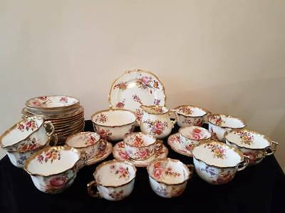 Hammersley Floral pattern tea service some A/F