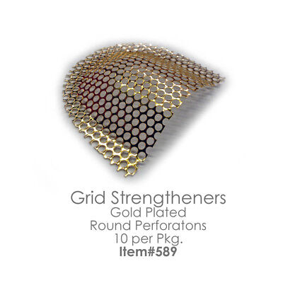 GRID STRENGTHENERS Reinforcement Mesh Gold Plated Stainless Steel 10pcs Dental