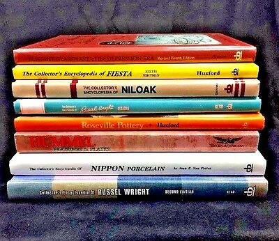 Pottery Collector Guidebooks Encyclopedia Porcelain Lot Value Glass Fiesta Books