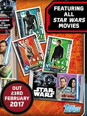 (Topps 2017) Star Wars Force Attax Universe Trading Card Game = 256 cards Set