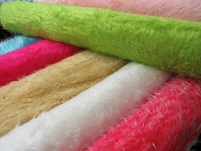 Curly Luxury Long Pile Hair Haired Faux Fur Soft Furry Fabric Fancy Dress