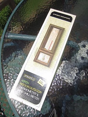 New Vintage Springfield Aspen Indoor Outdoor Thermometer & Wind Chill Meter