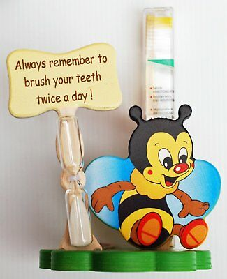 Bumble Bee Toothbrush Holder with Toothbrush & Timer - Italian - Handcrafted