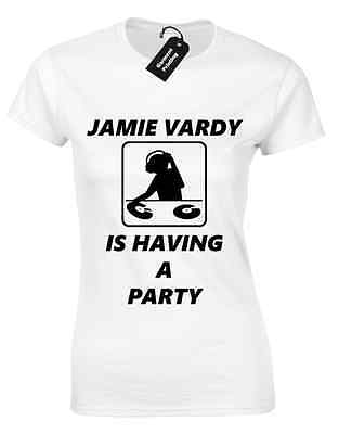 887522549f7a Jamie Vardy Party Ladies T Shirt Football Leicester City Funny League  Winners